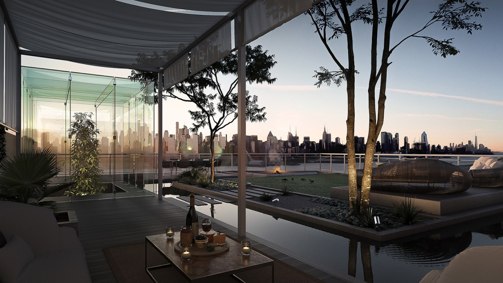 Rooftop penthouse in New Jersey