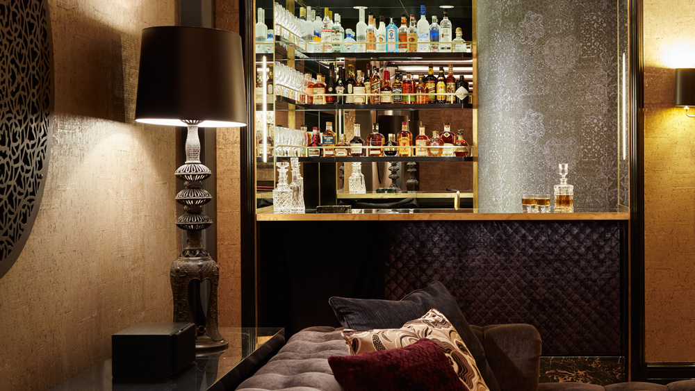 At home bar designed by Patrick Sutton