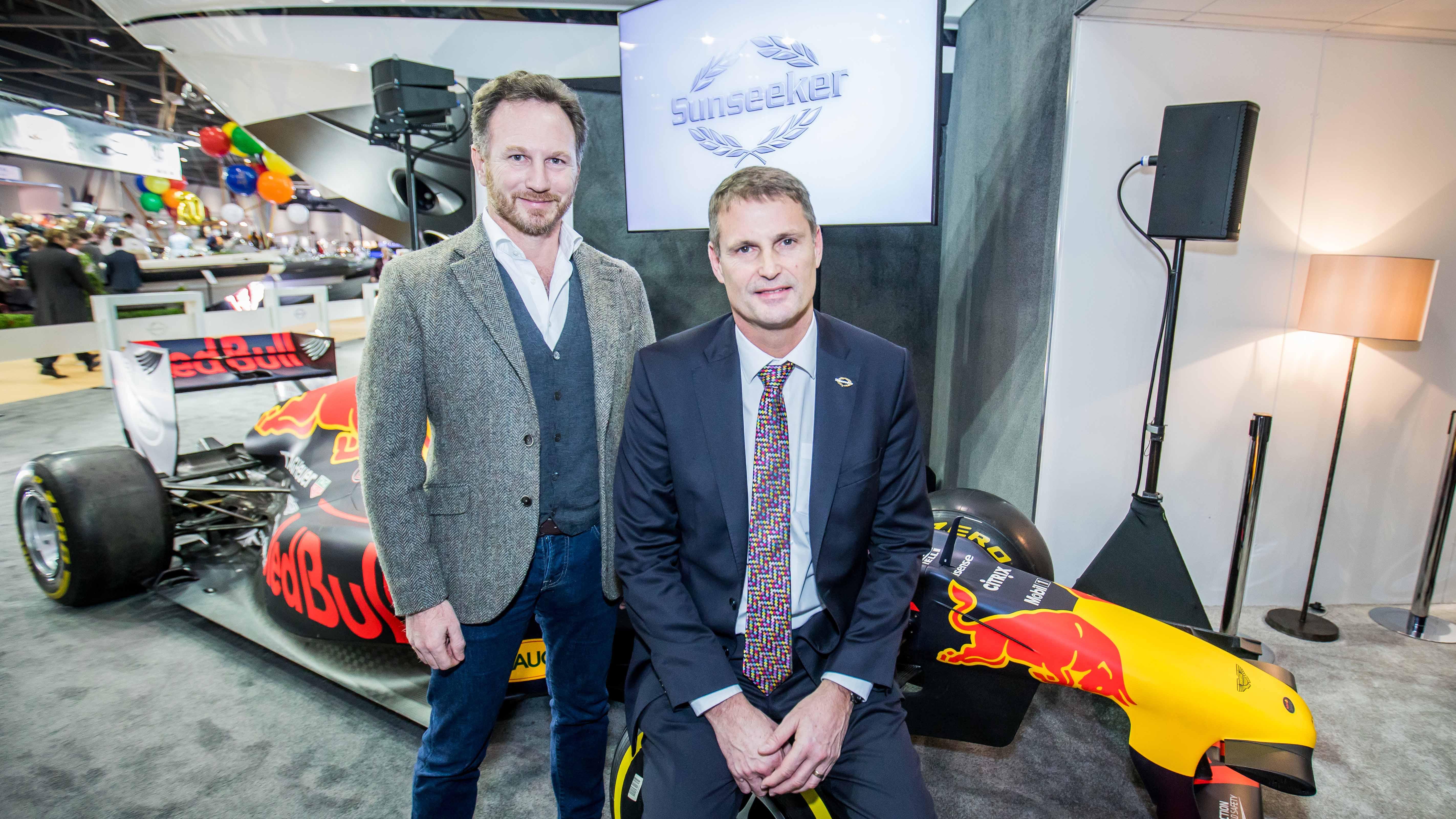 Red Bull Racing Sunseeker yachts formula 1