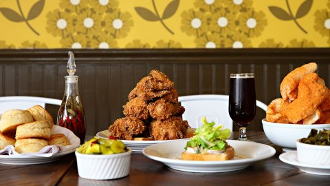 fried chicken biscuits revival