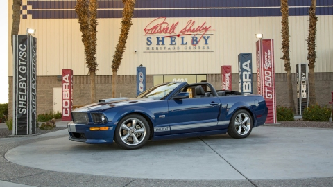 A rare prototype 2008 Ford Shelby GT convertible to sell for charity through Barrett-Jackson.