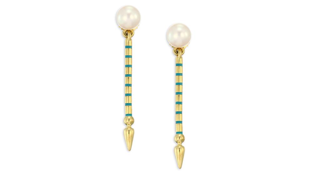 Sarah Hendler pearl earrings