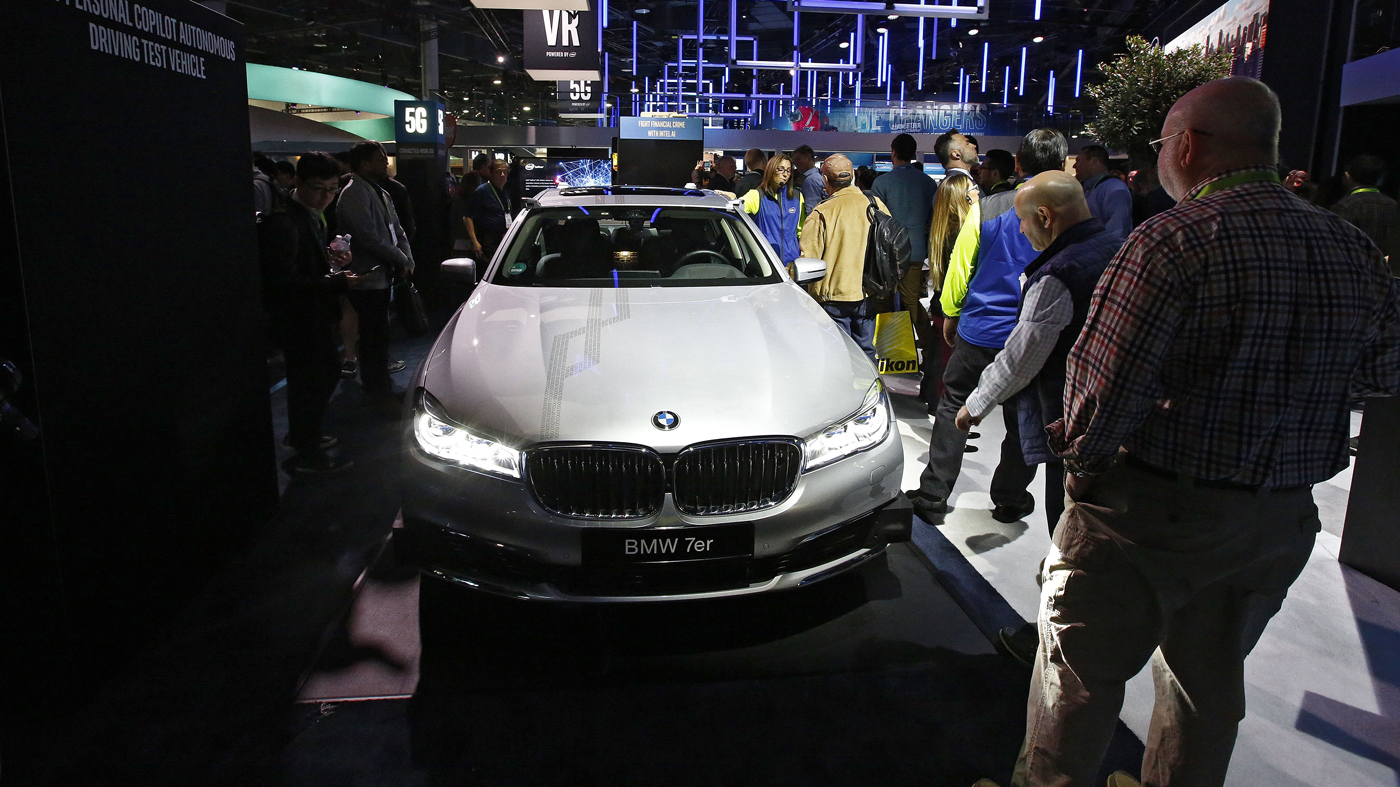 A BMW display at the 2018 Consumer Electronics Show in Las Vegas.