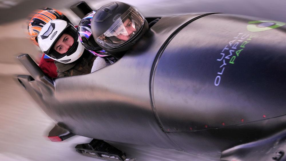 Olmypic bobsledding