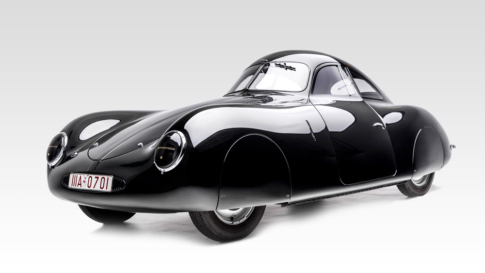 The only existing example of the Type 64 designed and built by Ferdinand Porsche and his team before the outbreak of World War II.