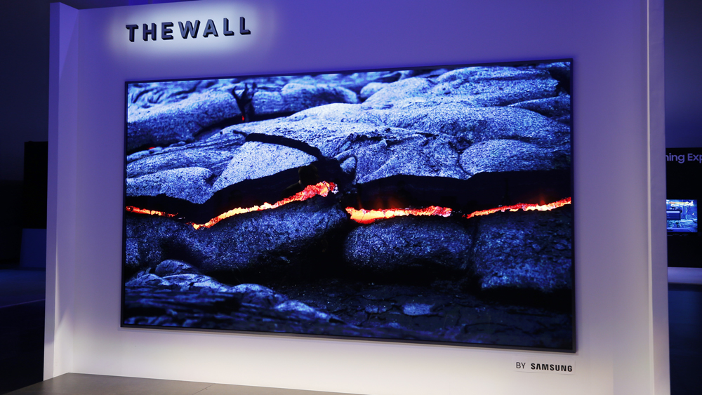 "Samsung ""the Wall"" Modular MicroLED 146-inch TV"