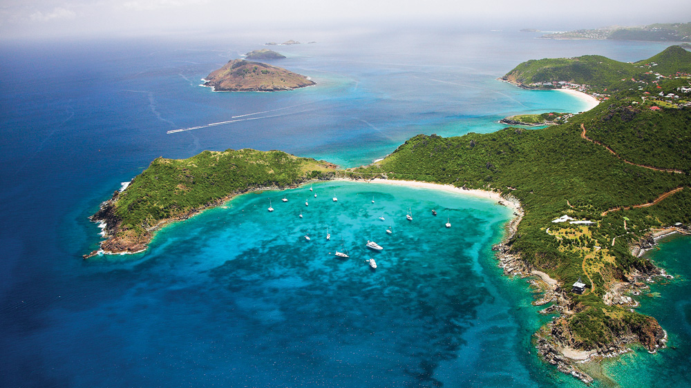 St. Barts aerial view