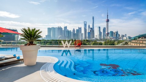 W Shanghai swimming pool
