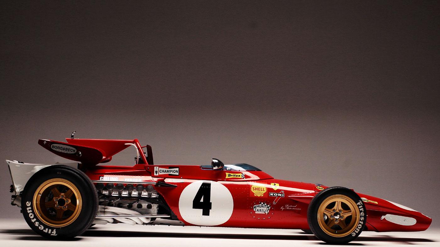 Paolo Barilla's Ferrari 312B racer.