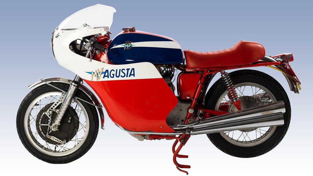 Motorcycle collector Stuart Parr's 1971 MV Agusta 750 S.