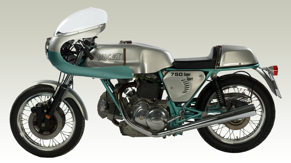 Motorcycle collector Stuart Parr's 1974 Ducati 750 SS.