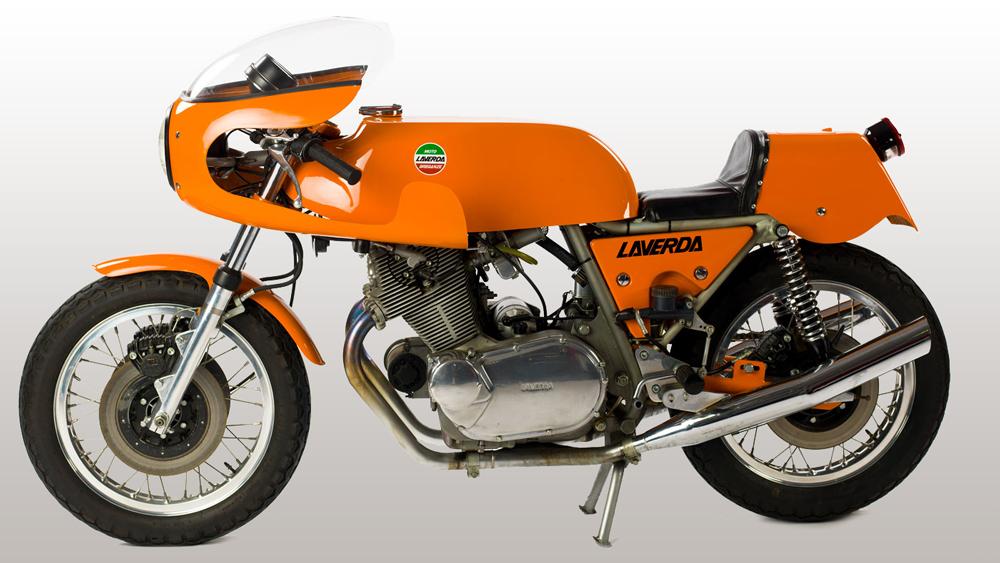 Motorcycle collector Stuart Parr's 1974 Laverda SFC.