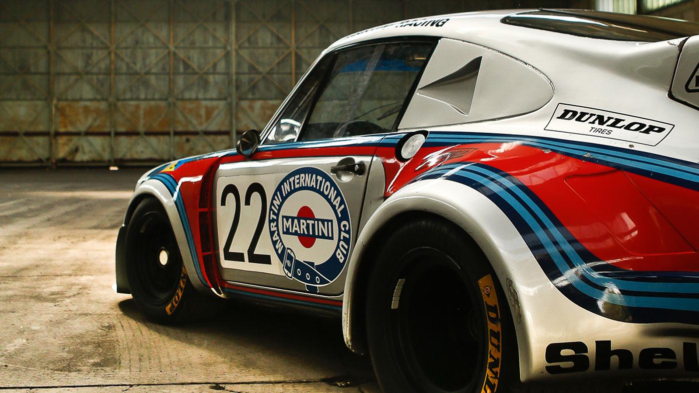 A 1974 Porsche 911 Carrera RSR 2.1 Turbo.