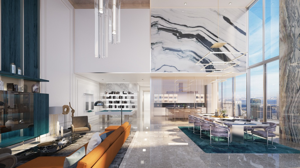 Penthouse Collection at Brickell Flatiron in Miami