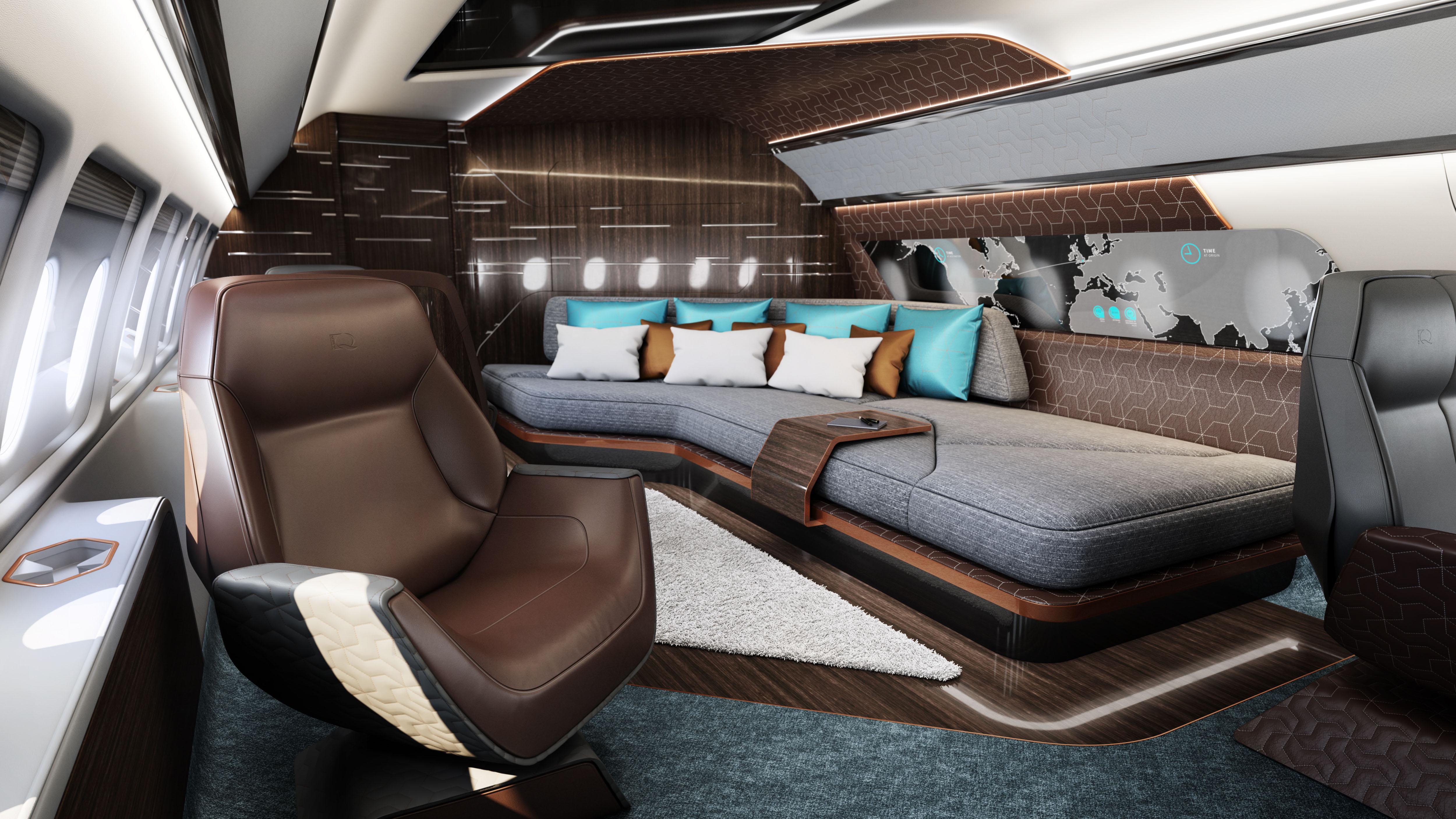 Design Q and Comlux Business Jet Interiors Airbus Boeing