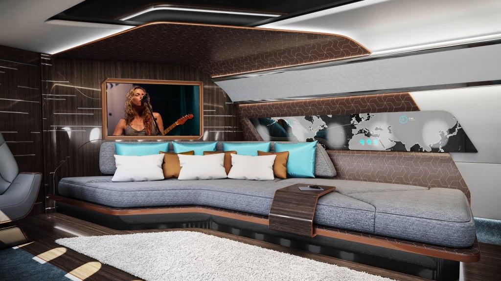 Design Q and Comlux Business Jet Interiors Boeing Airbus
