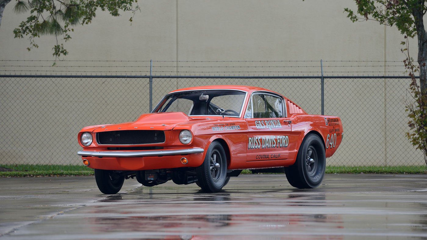 The 1965 Ford Mustang A/FX Gas Ronda, an example of a first generation Mustang fastback, fetched $324,500 at Mecum's 2018 Kissimmee auction.