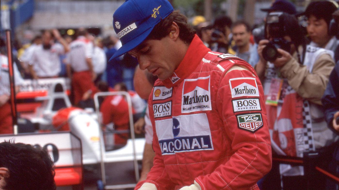Legendary racer Ayrton Senna at the 1993 Monaco Grand Prix.