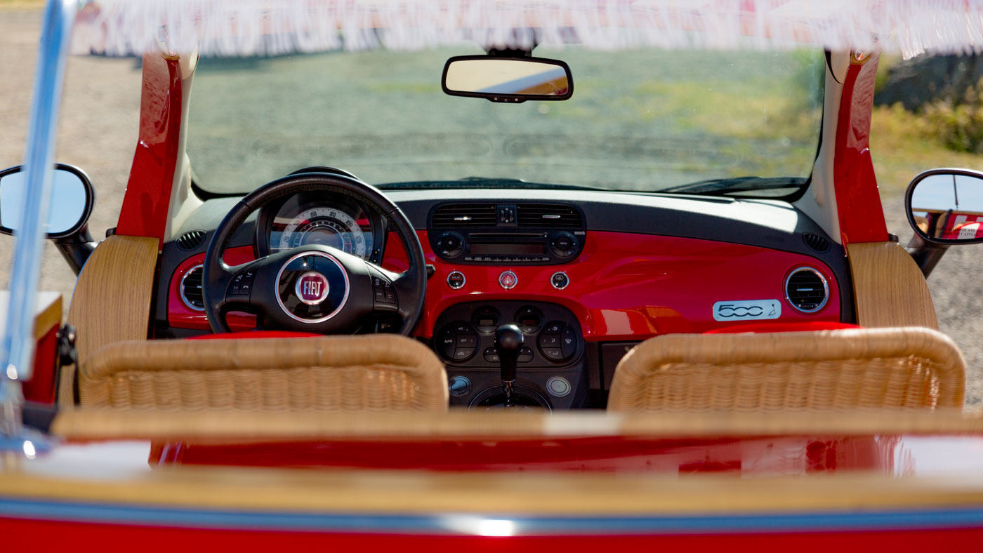 The interior of a Ghia Jolly.
