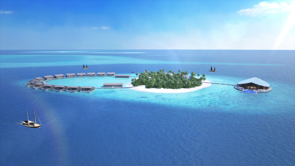 Kudadoo Private Island aerial