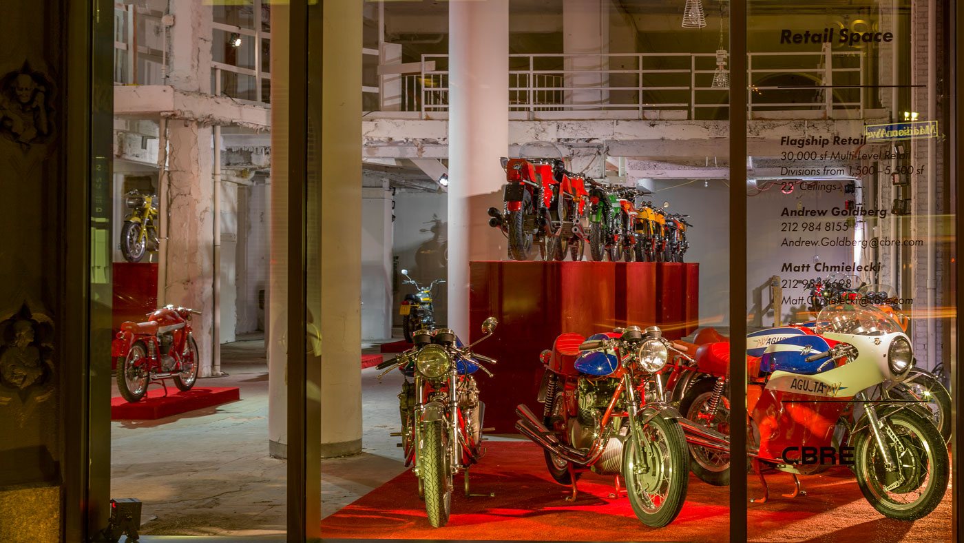 From February 16 through April 22, the Miami Design District will host timeless Italian two-wheelers from Stuart Parr's collection.