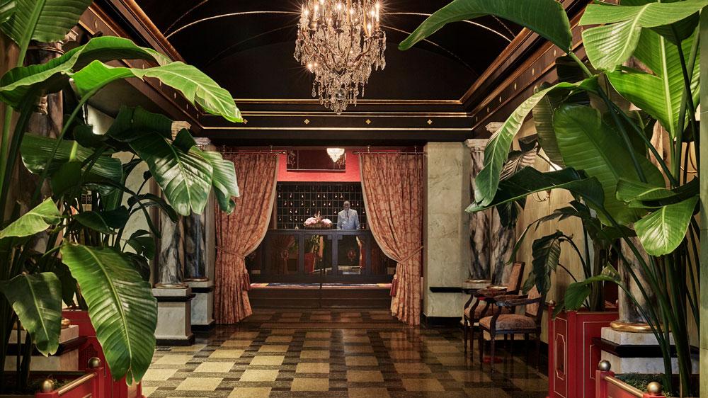 The Pontchartrain Hotel lobby