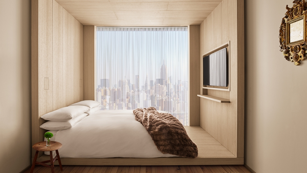 Hotel guest room in New York