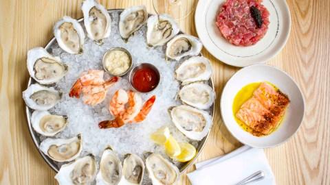 oysters crudo shrimp