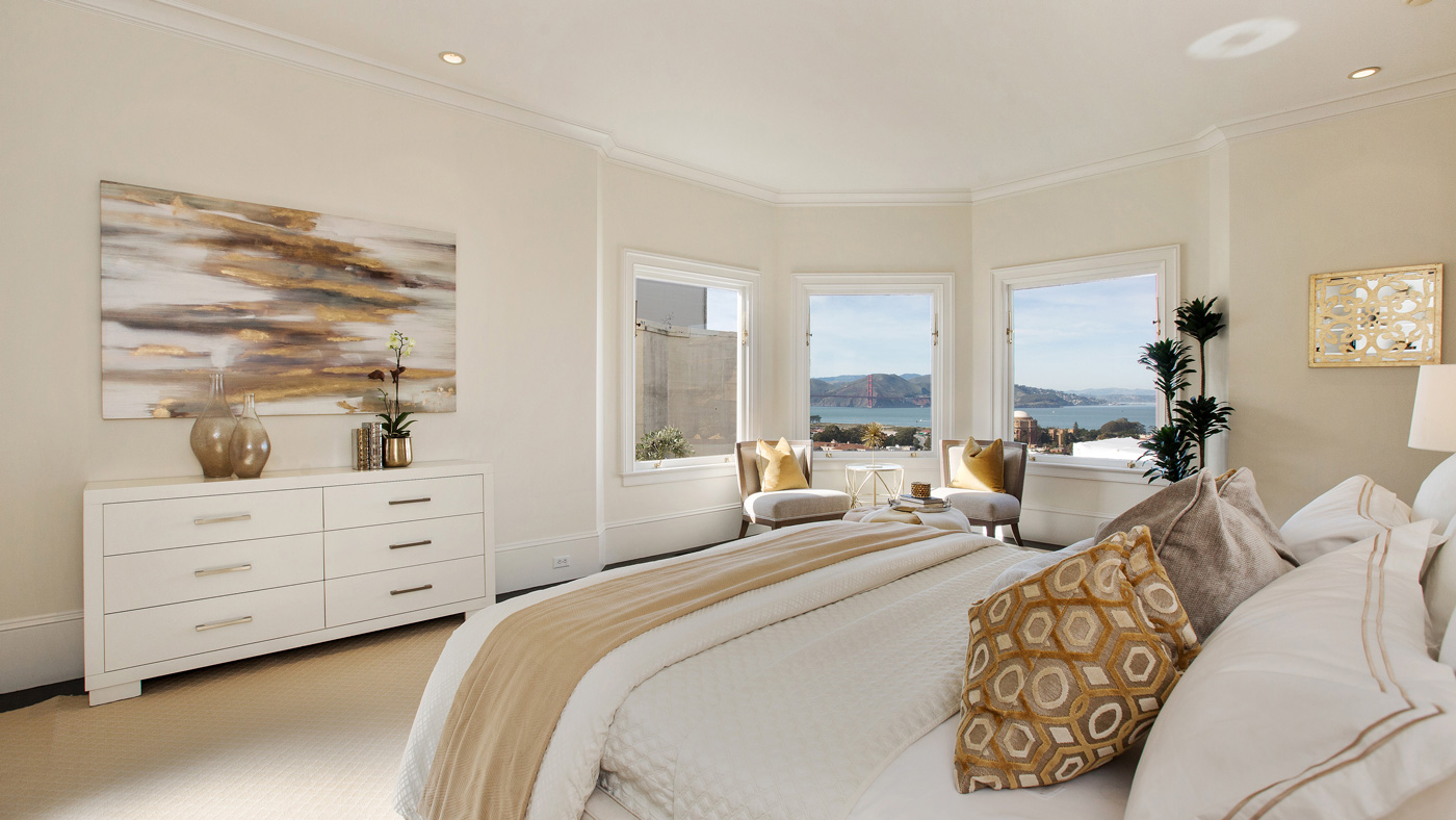 San Francisco home with Golden Gate Bridge views