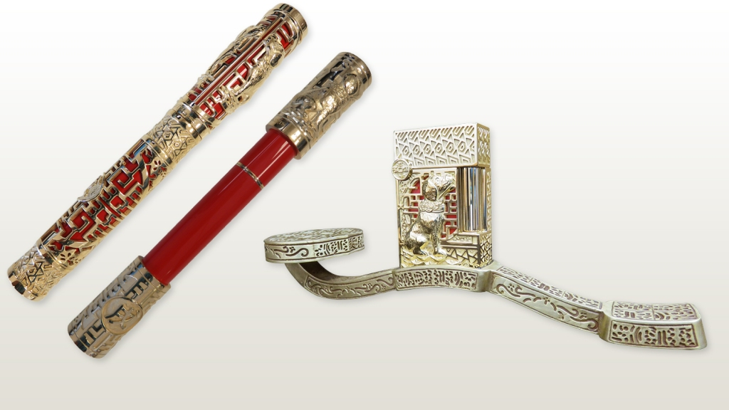 S.T. Dupont pen and lighter