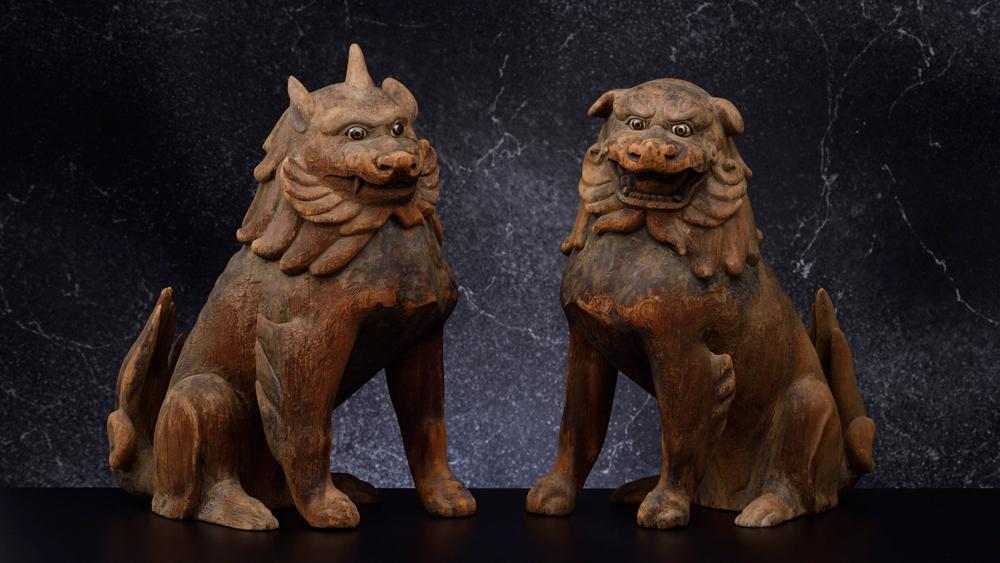 japanese wooden figures
