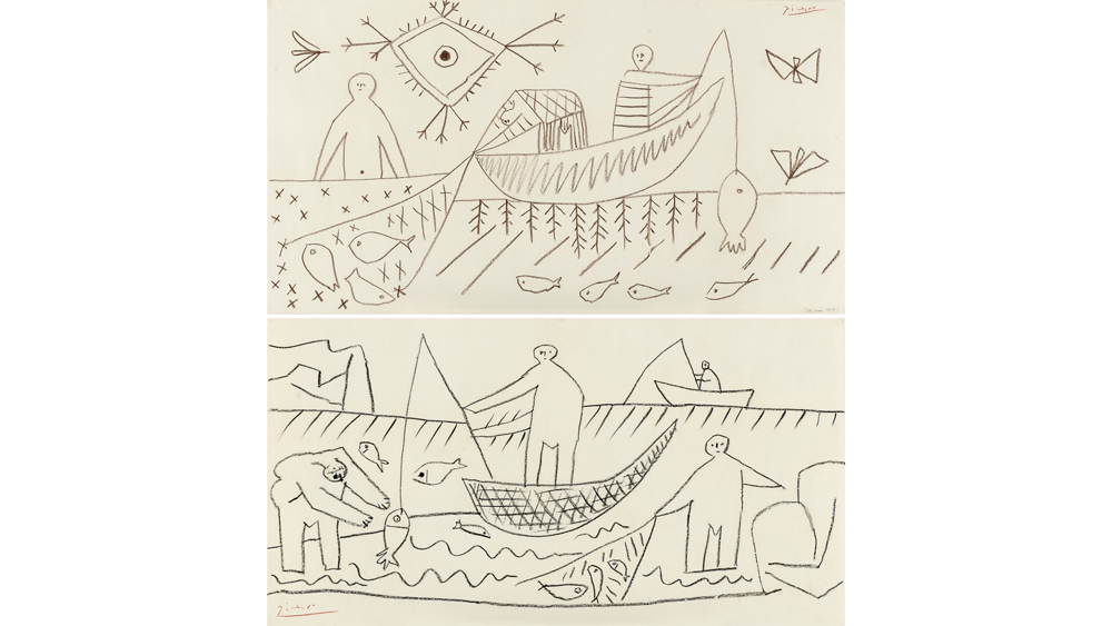 Picasso Fishermen drawing
