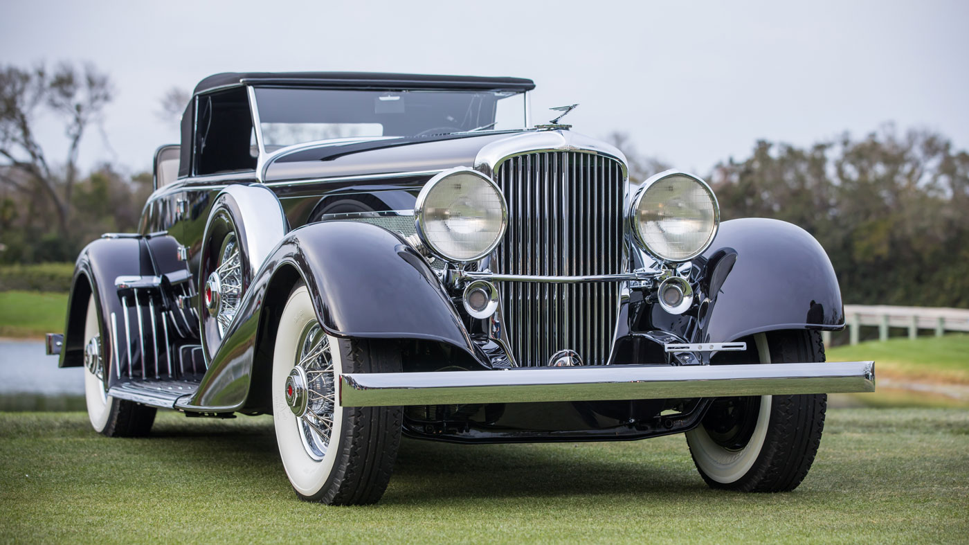 The 1929 Duesenberg J/SJ Convertible, which earned the Best in Show Concours d'Elegance Trophy at the 2018 Amelia Island Concours d'Elegance.