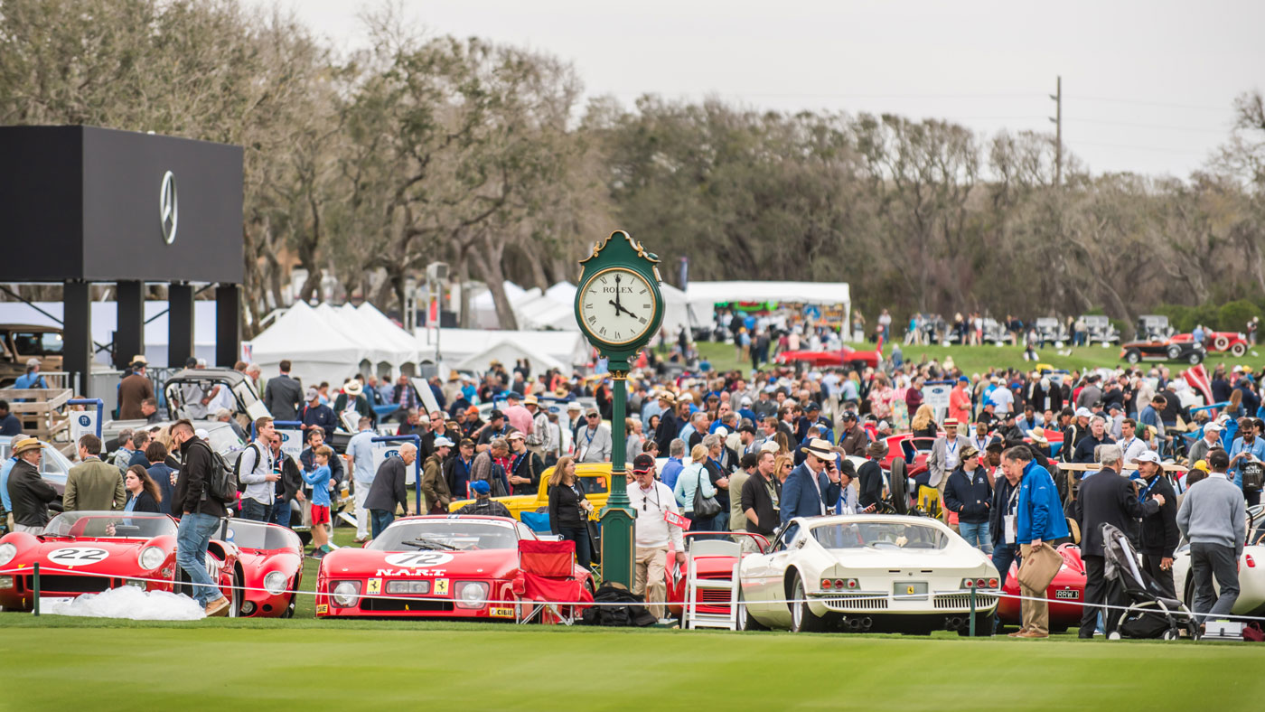 Attendees at the 2018 Amelia Island Concours d'Elegance.