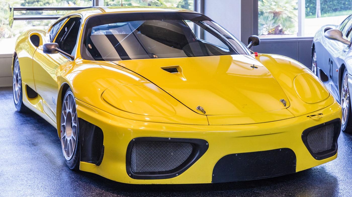 A modified 2002 Ferrari 360 GT racecar.