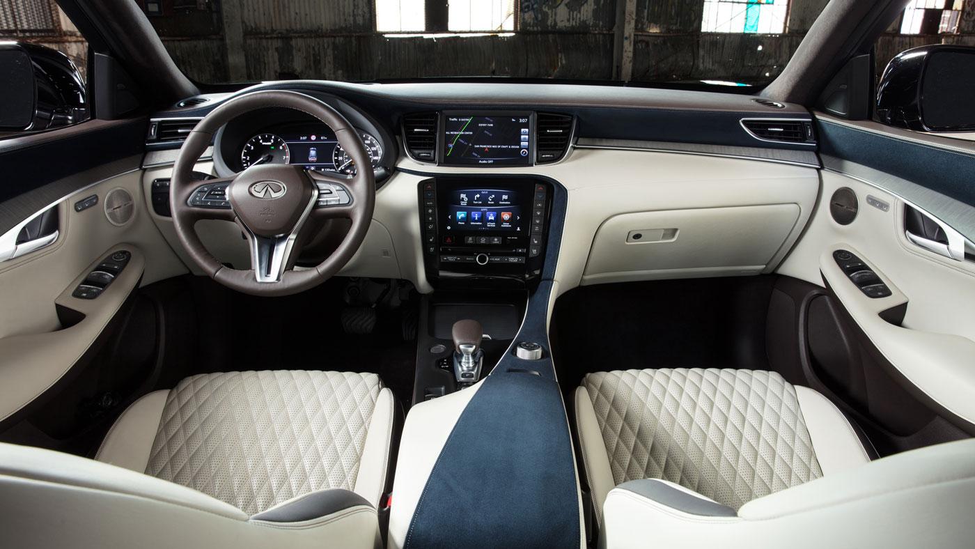 The interior of the Infiniti QX50.