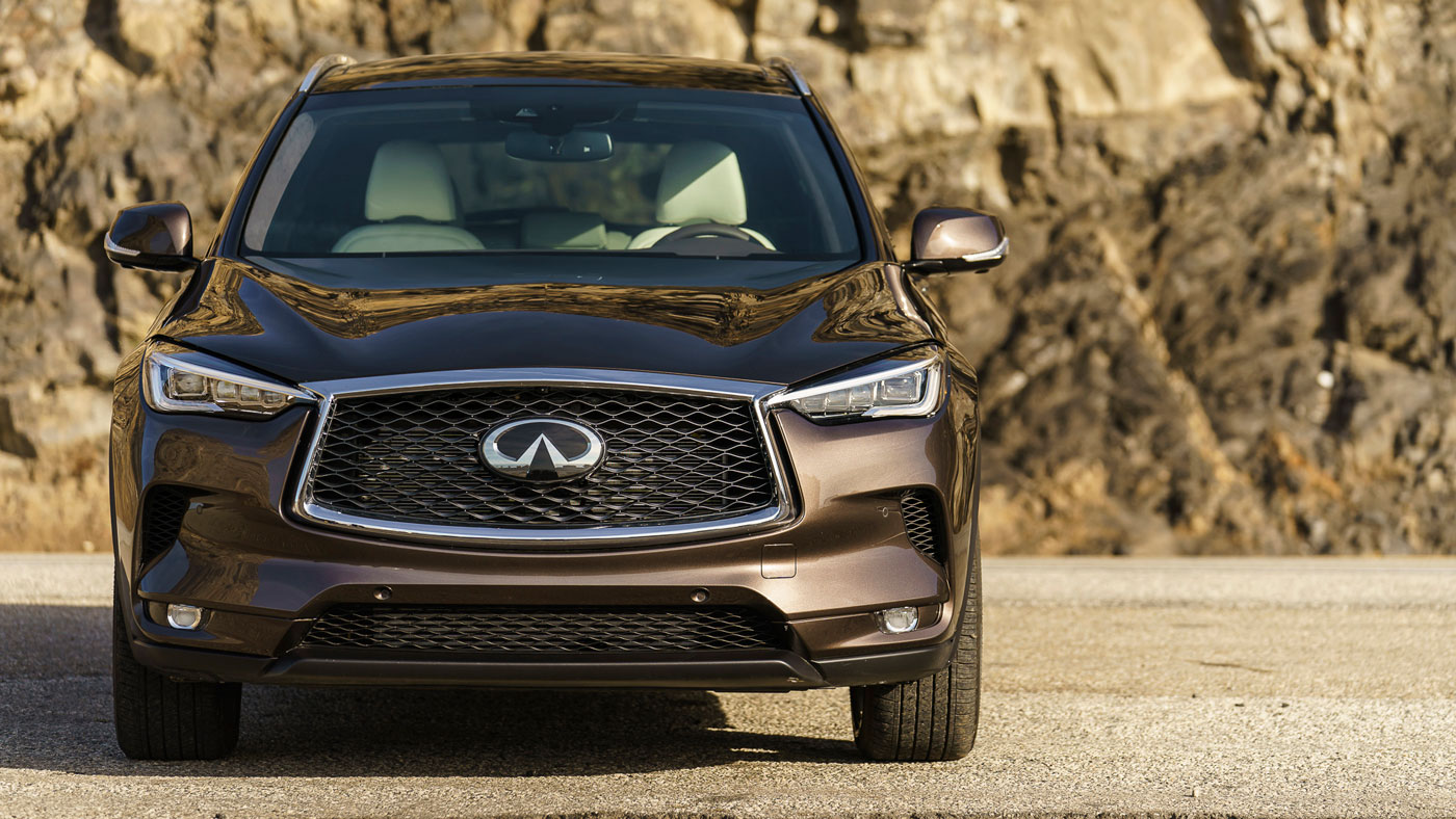 Front view of the 2019 Infiniti QX50.