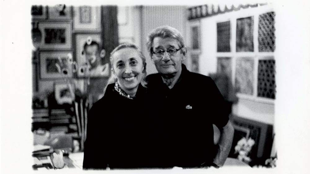 Carla Sozzani and Helmut Newton in her Studio, Milano, 1999.