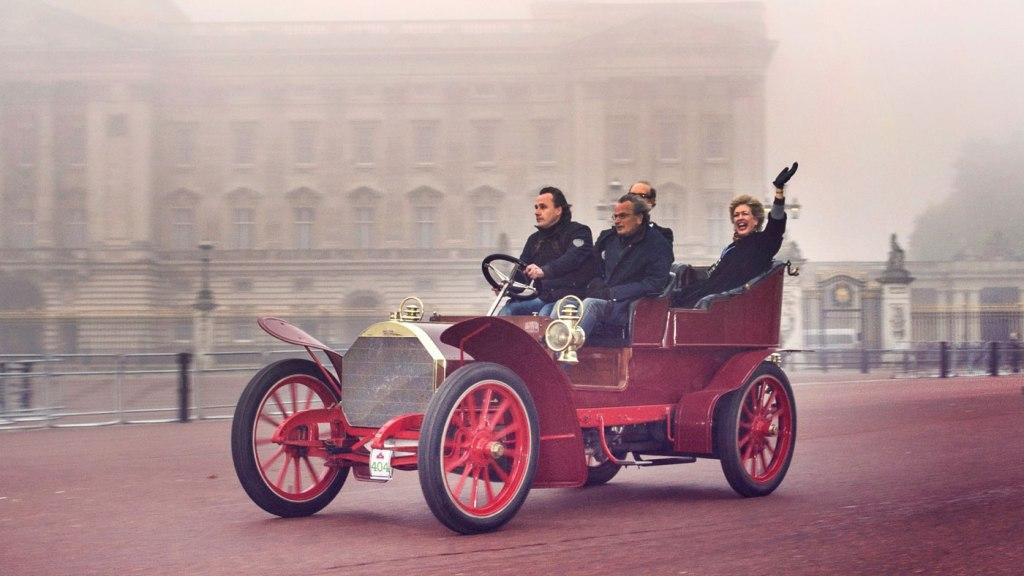 A 1904 Fiat Type 24/32 Rear Entrance Tonneau Car.