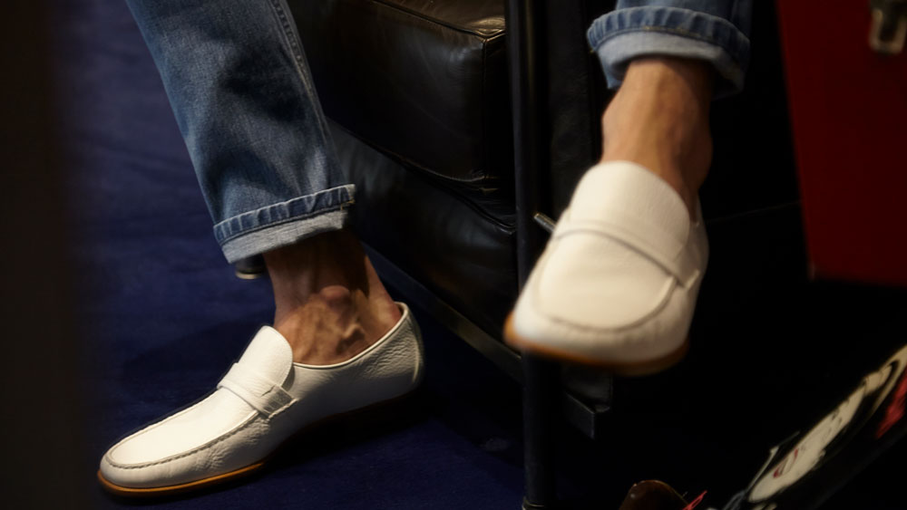 Carvil white loafers