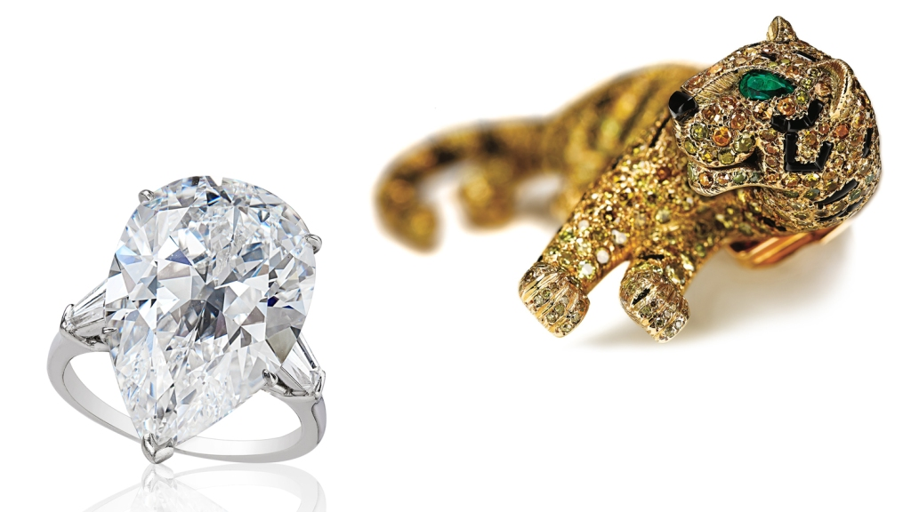 diamond ring Cartier Panthère brooch