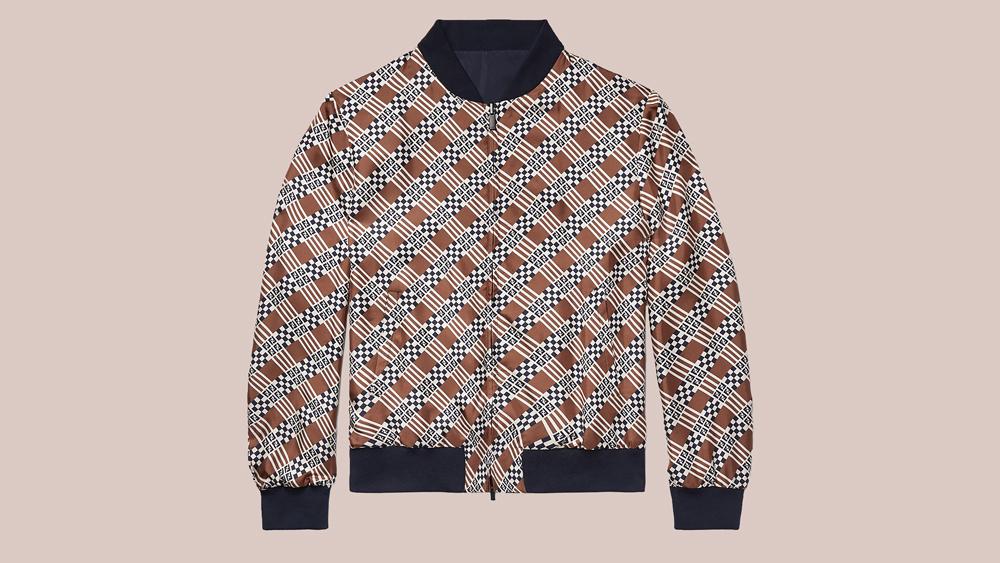 Fendi patterned bomber jacket