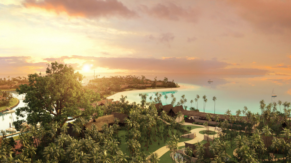 Six Senses Fiji aerial