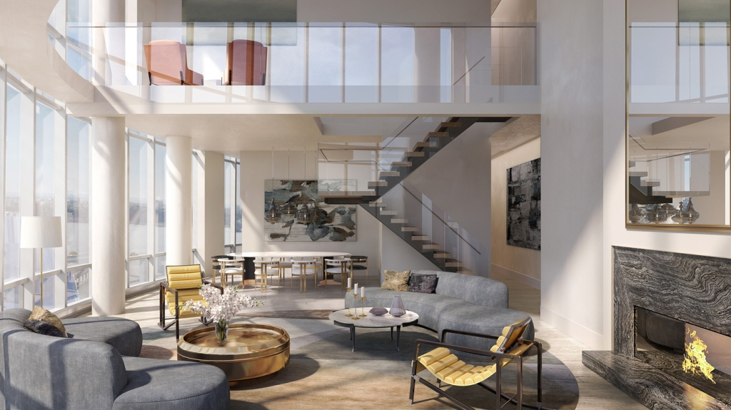 Located on the 88th floor at 900 feet in the sky, this 5,161-square-foot penthouse at Hudson Yards is listed for $32 million. Visit www.livehudsonyards.com or contact 212-385-1515.