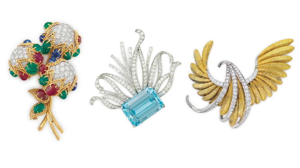Christie's vintage brooches