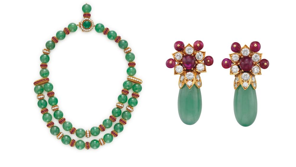 Van Cleef & Arpels jade jewelry