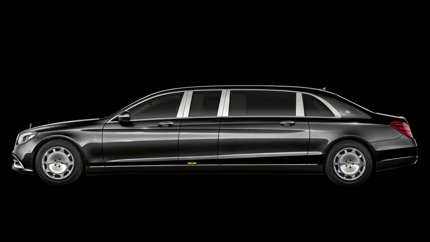 Side view of the Mercedes-Maybach Pullman.