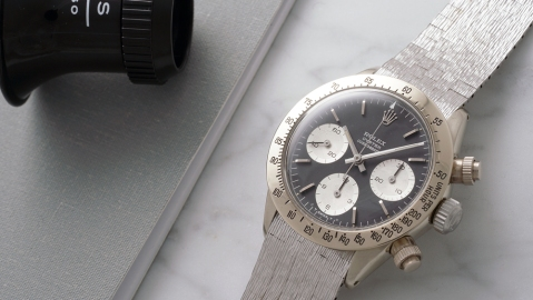 White Gold Rolex Cosmograph Daytona watch