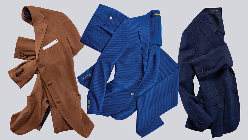 Kiton Canali and Corneliani suits