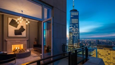30 Park Place Penthouse balcony